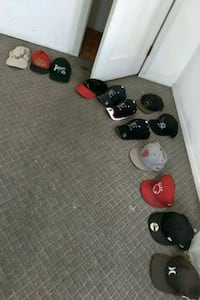Variety of ball caps, fitted caps, strap back cap,