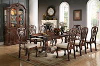TRADITIONAL 7 PIECE FORMAL DINING ROOM TABLE SET   Rancho Cucamonga
