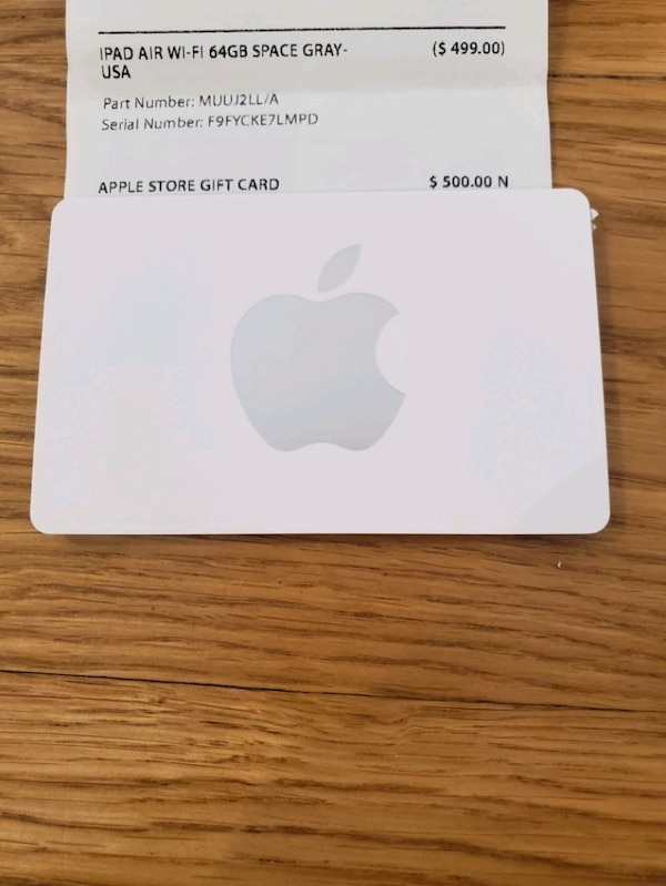 $500 Apple store gift card
