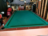 Pool table with balls and rack and 4 sticks  Vista, 92083