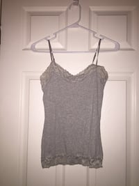 Women's Grey Camisole (Charlotte Russe, Size S) Chantilly, 20152