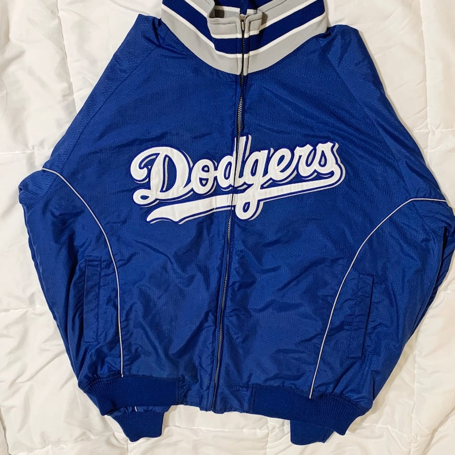 Majestic dodgers bomber jacket authentic collection