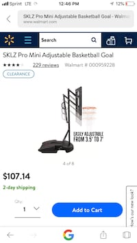 Brand new indoor outdoor basketball hoop( sklz pro mini hoop system) Rockville, 20853