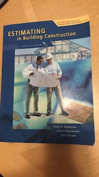 Estimating in Building Construction book Toronto, M3A