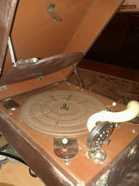 ANTIQUE RARE CAST RECORD PLAYER WATERS/ CONLEY