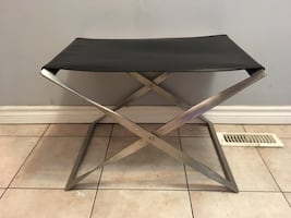 Modern Stainless Steel folding stool/ottoman