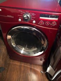 Red lg front-load clothes washer Washington
