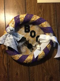beige and purple Halloween wreath Middletown, 17057