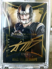 Rams Sean Mannion certified Autograph card Paramount, 90723
