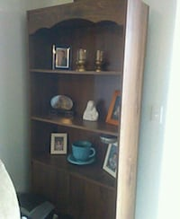 Shelf with sliding doors on bottom for storage  Albuquerque, 87114