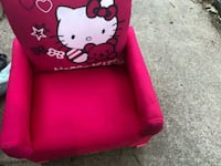 red Hello Kitty leather tote bag