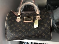 black and brown Louis Vuitton leather tote bag Rosamond, 93560