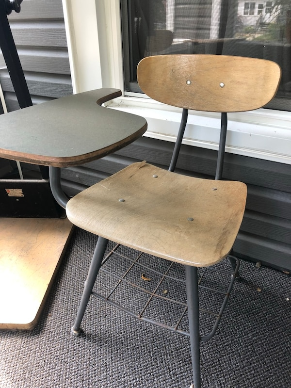 Amazing Old School Desk Chair Combo 2 Machost Co Dining Chair Design Ideas Machostcouk