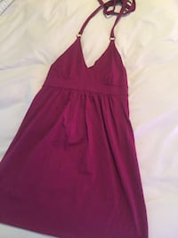 Burgundy halter-neck dress Lethbridge, T1H 4A4