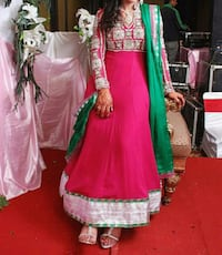 women's pink and green sari dress Faridabad, 121002