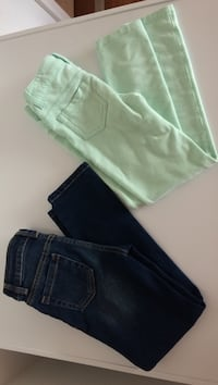 Size 6 teal jeggings and skinny jeans. $3 each or $5 for both