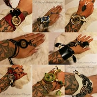 Dreamcatcher Slave Leather Bracelets  Red Deer, T4N