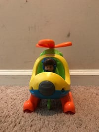 yellow and blue Fisher-Price ride on toy Woodbridge, 22191
