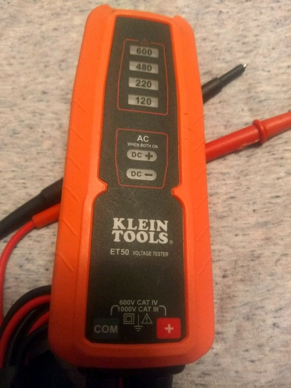 KLEIN TOOLS ET50 Electronic Voltage Tester AC/DC v