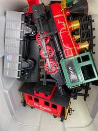 Christmas train with track