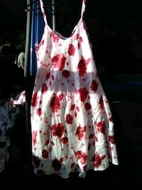 white, red, and black floral spaghetti strap dress Jacksonville, 32206