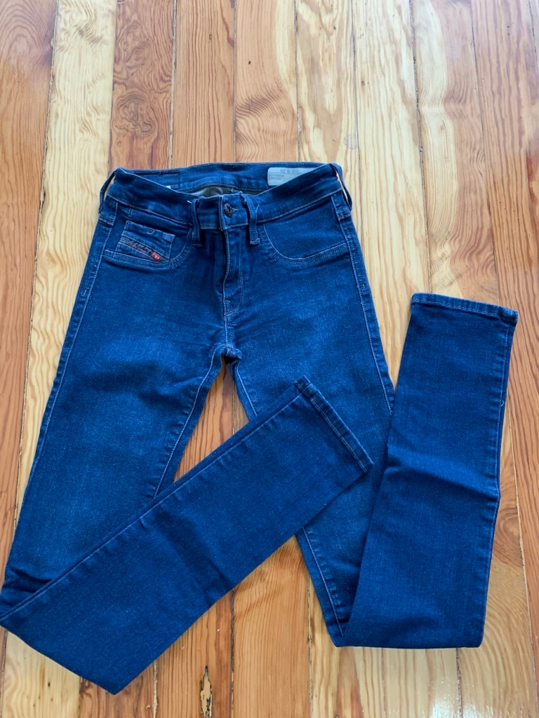 Photo Diesel jeans woman's size 25 livier super slim-jegging low waist