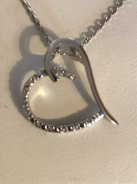 Diamond Accent Sterling Silver Heart Necklace Manchester, 03109