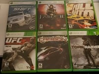 six Xbox 360 game cases 15$ each 548 km