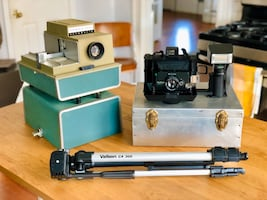 Vintage Polaroid Propack Camera and Argus 500 Movie Projector
