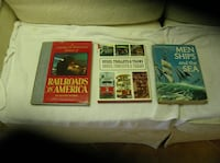 Three (3) Books on Railroads, Trains, Trolleys, Springfield