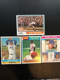 "4 Tom Seaver Baseball Cards ""FATHER'S DAY, SPECIAL"""