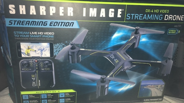 Used Sharper Image Streaming Drone Dx 4 Hd Video Box For Sale In