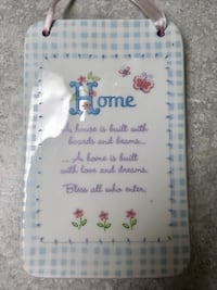 Two Cute Porcelain Home Sayings