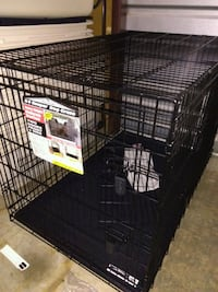 "NEW 48"" heavy weight double door dog cage Fairfax Station"