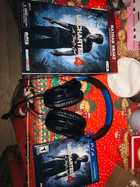Uncharted 4 Game PS4 and Nathan DrakeActionFigure Turtlebeach headset
