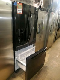 LG 33in French Door Refrigerator in black working perfectly