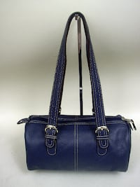 Tignanello Blue Leather Satchel Lancaster