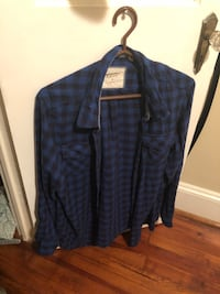 blue and black plaid dress shirt Frederick, 21701