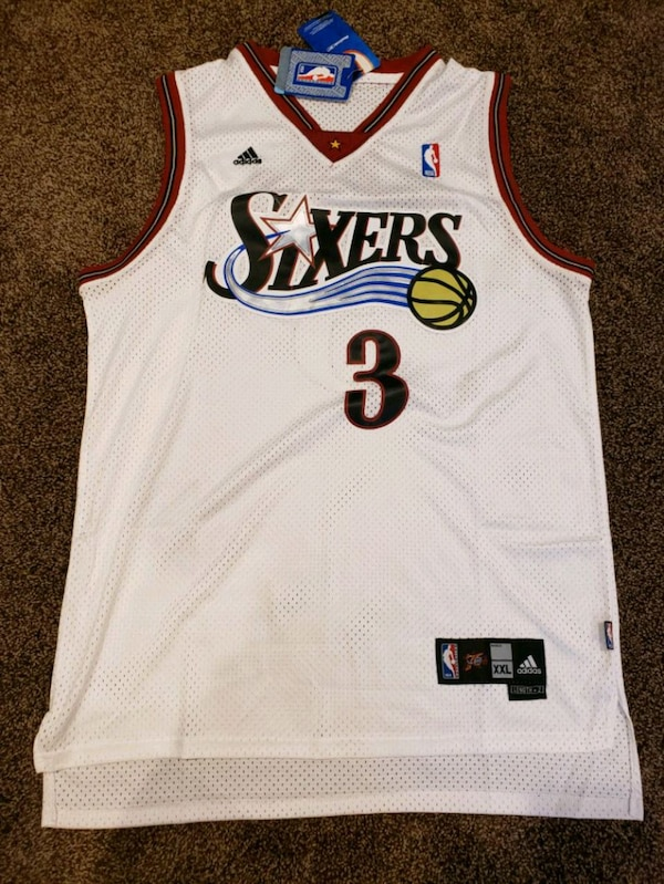 the latest 1714c c0233 Allen Iverson Philadelphia 76ers 2XL NBA jersey
