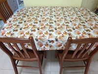 Dining table with 4 chairs - Move out Sale - Urgent SINGAPORE
