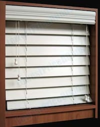 Faux Wood Blinds - White - 2 Inch Rock Hill