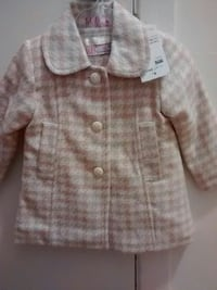 Made in Greece coat for 6 months pink and white