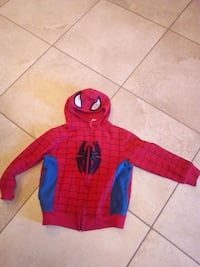 Spiderman hooded sweater boys size 6x Vaughan, L4L 5G8