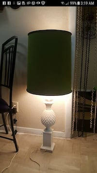 black and green table lamp