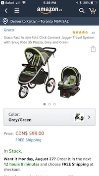 Graco Car Seat and Stroller Set NEW Toronto, M6M 2E6