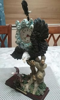"Eagle clock 14"" tall 8"" wide Chantilly, 20151"