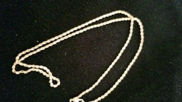 14k gold plated rope chain brand new 2mm 5 grams