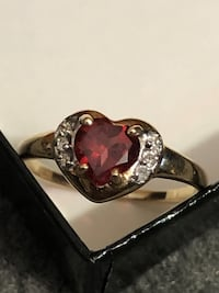 silver and pink gemstone ring Calgary, T3K 2G6