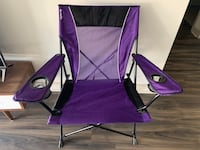 Kijaro Dual Lock Portable Camping and Sports Chair - Purple Columbia, 21044
