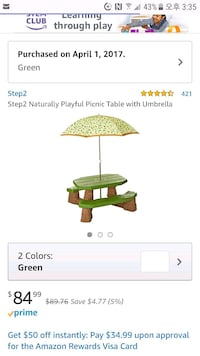 Step2 Naturally Playful Picnic table Fairfax, 22033